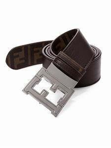 Fendi Colorado Zucca Reversible Belt in Brown for Men | Lyst