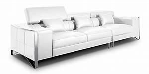 Big Sofa Echtleder : xxl big sofa gusti 4 sitzer echtleder mit kunstleder edelstahl wei m bel24 ~ Orissabook.com Haus und Dekorationen