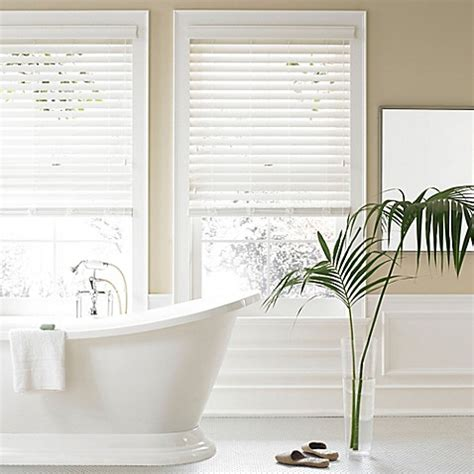 bed bath and beyond blinds real simple 174 2 5 inch faux wood blind bed bath beyond