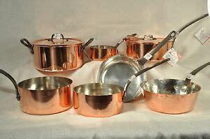 baumalu assorted copper cookware pots  pans alsace