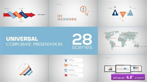 after efects universal template universal corporate presentation after effects project