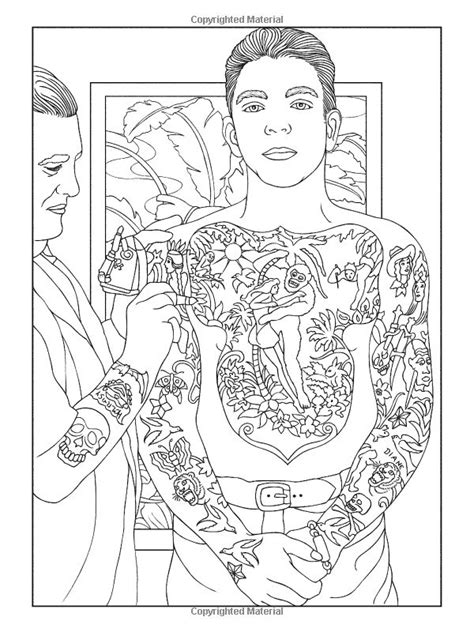 92 best images about Body Art Tattoo Coloring Pages for Adults on Pinterest | Dovers, Ink and Pin up