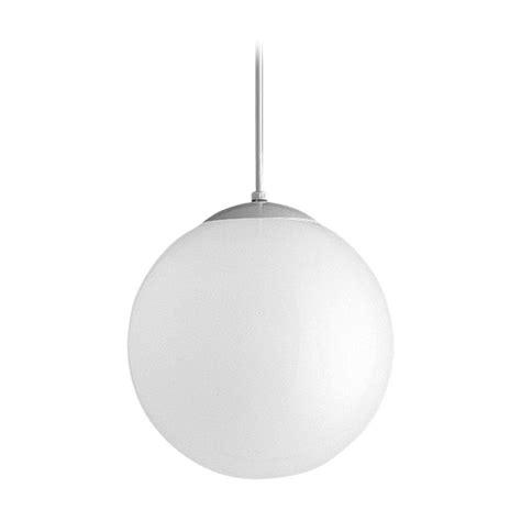Mid Century Modern Pendant Light White Opal Globes By