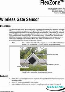 Senstar E7ba0300 Wireless Gate Sensor User Manual Wireless