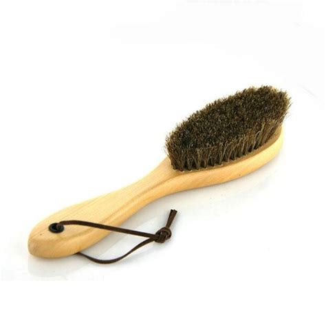 2019 new shoe buffing brush hair bristles boot care clean handle shoe