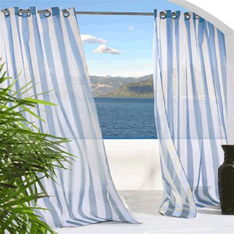 outdoor sheer curtains blue outdoor sheer curtains
