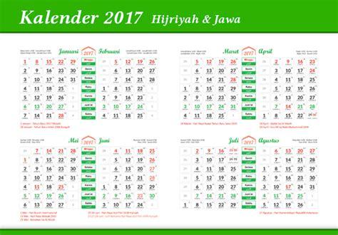 Kalender 2017 Indonesia Cdr Pdf Libur Nasional