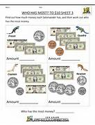 Printable Money Worksheets New Calendar Template Site Math Money Worksheets Money Match To 2 Dollars 2 Images Counting Money Worksheets Up To 1 Printable Money Worksheets To 10