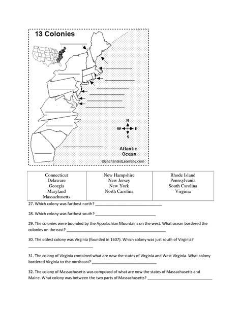 11 Best Images Of 13 English Colonies Worksheets  13 Colonies Chart Worksheet, Blank 13
