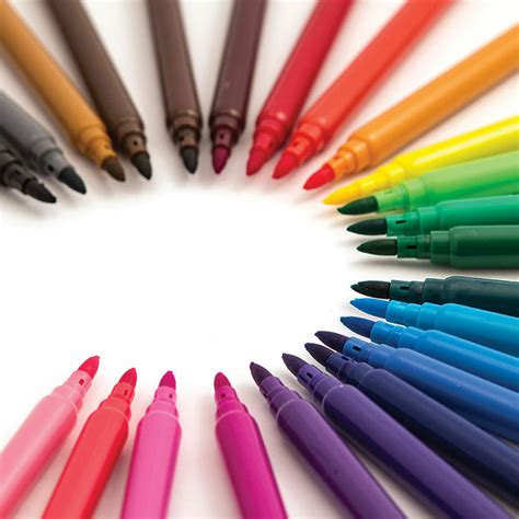 pack felt fibre tip pens drawing markers painting