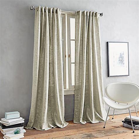 dkny curtains drapes dkny luster back tab window curtain panel bed bath