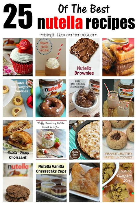 best nutella dessert recipes 25 of the best nutella recipes