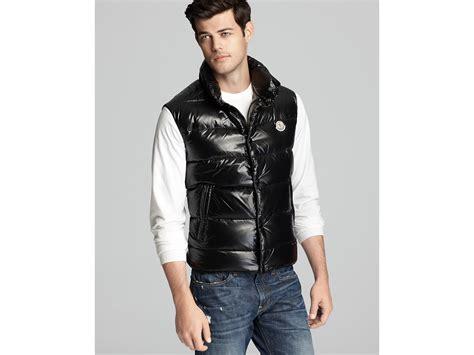 Moncler Shiny Tib Vest In Black For Men