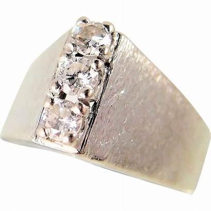 Gold 14k Solid Ring Shaped Stamped Modernist