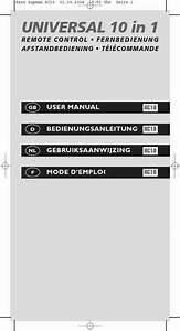 Hama Universal 10 In 1 Remote Commander   Remote Control