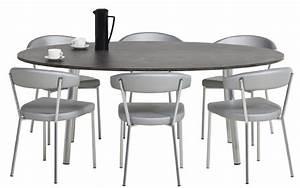 Table De Cuisine Ovale : table de cuisine ovale idees de dcoration ~ Teatrodelosmanantiales.com Idées de Décoration