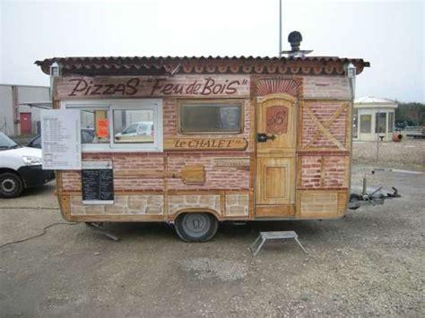 remorque cuisine papillon vend remorque a pizza au feu de bois caravanes camping