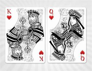 King and Queen of Hearts-Alice in Wonderland playing card ...
