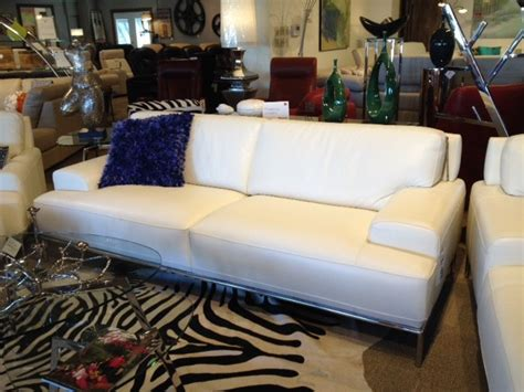 portofino leather sofa by chateau d ax modern living