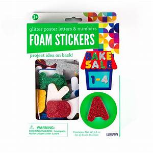 craft project ideas With glitter foam stickers letters and numbers