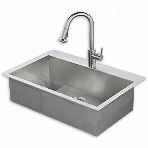 memphis 33x22 kitchen sink kit with faucet american standard With 33x22 farmhouse sink