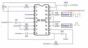 40 Khz Pwm Signal Generation Circuit Using Sg3525