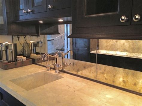 kitchen mirror backsplash antiqued mirror kitchen backsplash kitchen chicago