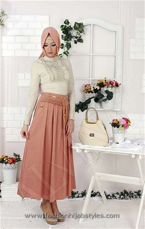 alvina hijab skirts collection pleated front hijab skirts  modern fashion styles