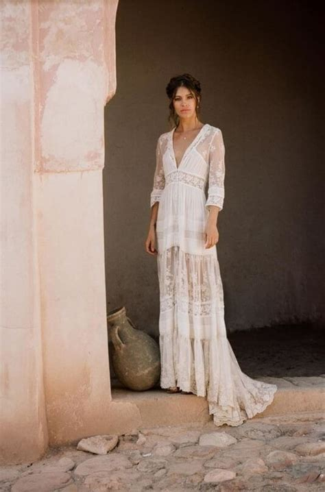 dreamy bohemian wedding dresses  perfect soft lace