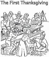 Thanksgiving Coloring Pilgrim Indian Pages Pilgrims Print Printable Sheets Getcolorings Enjoying Library Template sketch template