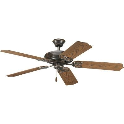 home depot ceiling fans outdoor progress lighting airpro 52 in antique bronze indoor