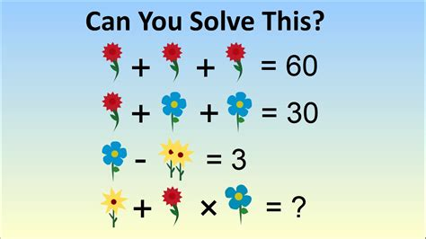 Can You Solve This Flower Math Problem?  The Science Explorer