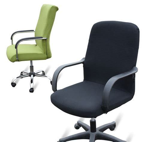 desk chair arm covers large size office computer chair cover side zipper design