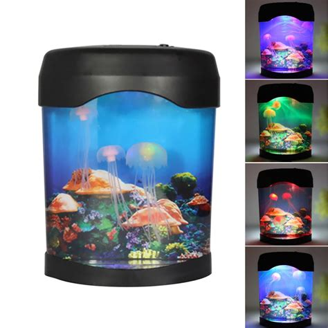 aliexpress buy sea world led jellyfish fish tank aquarium l nightlight light multicolor