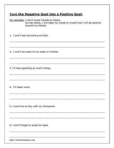mental health worksheets printable work