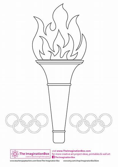 Olympics Olympic Coloring Games Torch Jeux Crafts