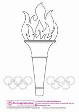 Olympics Olympic Coloring Crafts Games Torch Template Colouring Paper Winter Special Craft Gymnastics Preschool Rings Worksheets Creative Projects Idea Theme sketch template