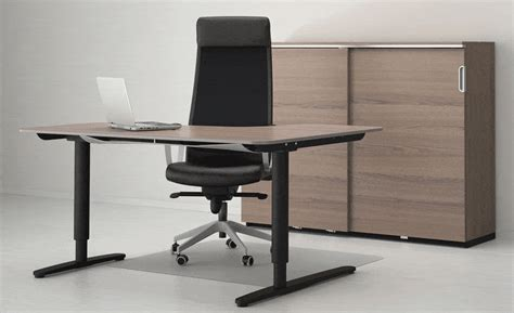 ikea bekant sitstand desk adjusts   press
