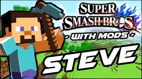 super smash bros minecraft steve mod wii youtube