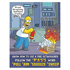 usar get template part safetyposter simpsons safety poster english 11 quot x 17
