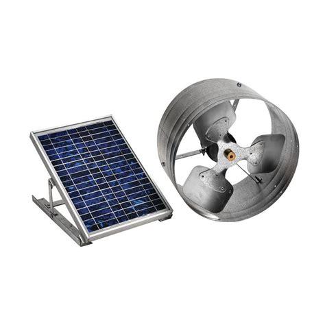 solar powered home fans master flow 500 cfm solar powered gable mount exhaust fan