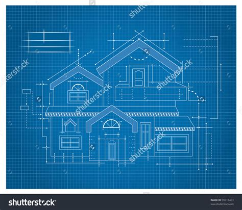 House Design Blueprints by Stock Vector Modern House Blueprint 99718403 Castillo