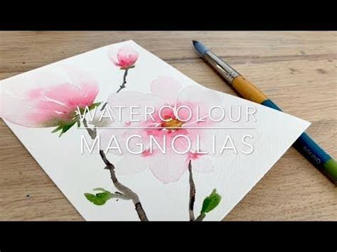 watercolour magnolias youtube  images arches