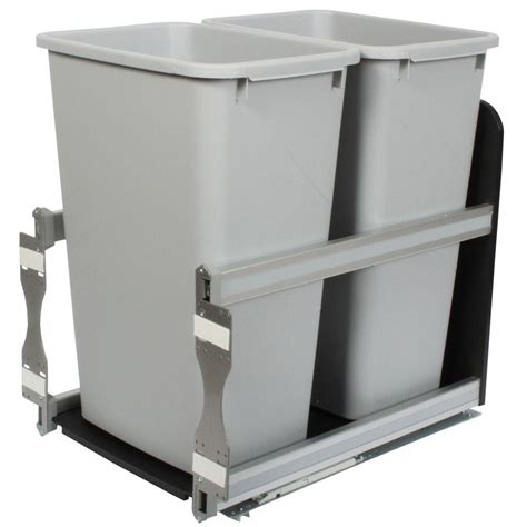 double trash can cabinet knape vogt 23 in d x 15 in w x 22 in d plastic in
