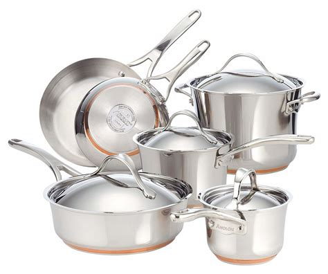 anolon nouvelle copper review stainless steel cookware