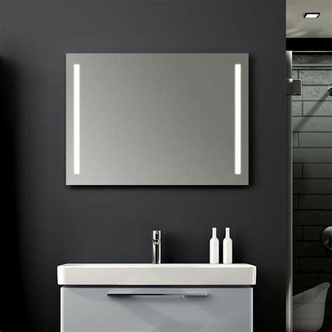 Bathroom Mirrors Illuminated by Geberit Option Led Illuminated Mirror Bathrooms Direct