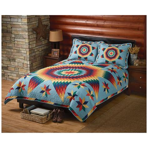 Quilt And Sham Set by Castlecreek Brilliant Quilt And Sham Set 421994