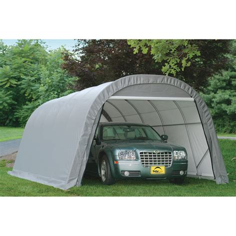 Shelterlogic 12ftw Roundstyle Instant Garage  Shelter. Closet Door Measurements. Roll Up Shop Doors. Self Closing Door Hinge. Chamberlain Garage Door Remote. Epoxy Garage Floor Images. Shovel Holder For Garage. Dog Doors For Walls. Salem Overhead Door