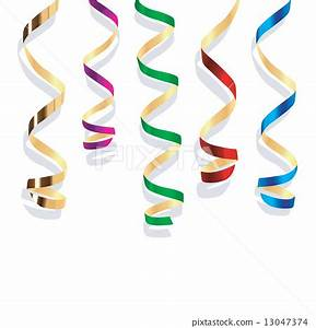 Background with party streamers - Stock Illustration ...