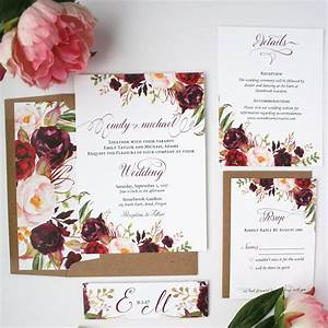 burgundy wedding invitations burgundy blush wedding With wedding invitation sample maroon